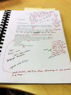 Jean Claude Pinson, manuscrit, littérature, poésie, philosophie