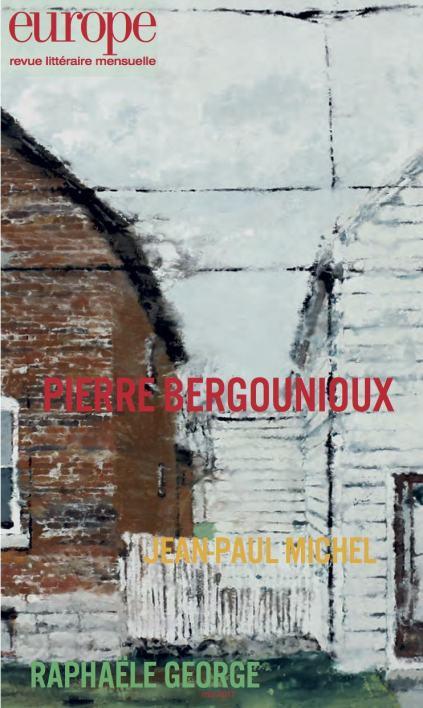 Pierre Bergounioux et la poésie », dans Europe
