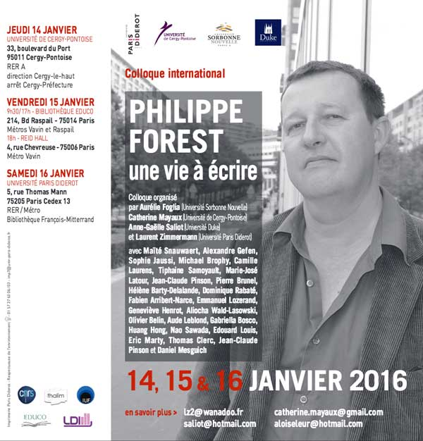 Philippe Forest, une vie à écrire