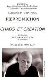Pierre Michon chaos et création, Jean-Claude Pinson