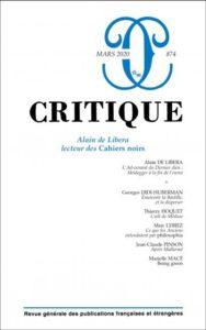 « Après Mallarmé », dans le n° 874 de la,revue Critique (éditions de Minuit), mars 2020.